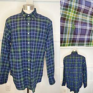 Ralph Lauren Polo Button Down Shirt Plaid Cotton
